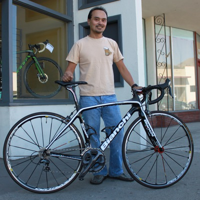 Raymond with his new Bianchi Infinito